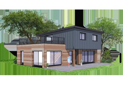 Baty bois construction la maison ossature boisconstruire for Constructeur de maison ossature bois